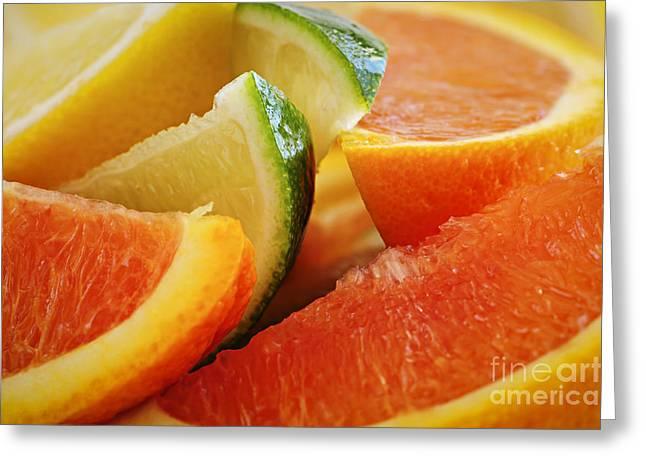 Citrus Wedges Greeting Card by Elena Elisseeva