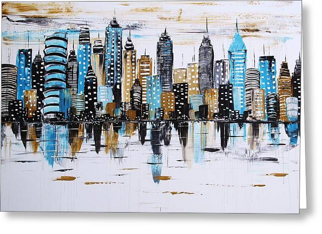 City Abstract Greeting Card