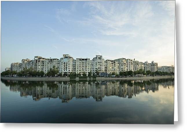 City And Water Greeting Card by Ioan Panaite