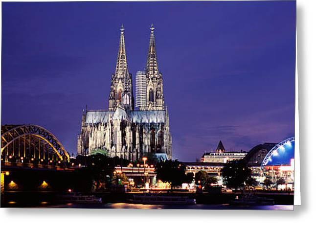 City At Dusk, Musical Dome, Cologne Greeting Card by Panoramic Images