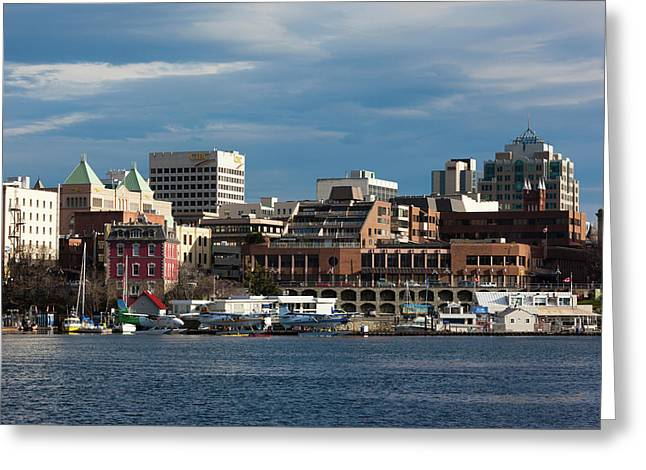City At The Waterfront, Inner Harbor Greeting Card