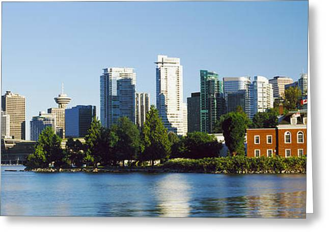 City At The Waterfront, Vancouver Greeting Card by Panoramic Images