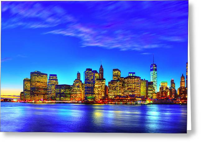 City Blue Greeting Card