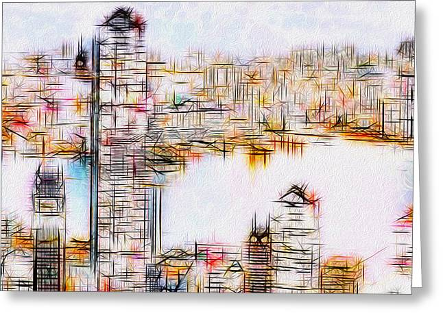 City By The Bay Greeting Card by Jack Zulli