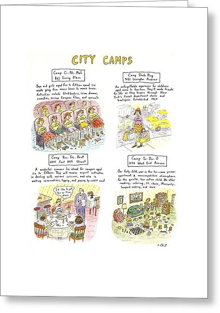 City Camps Greeting Card by Roz Chast