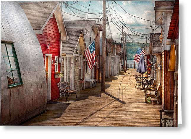 City - Canandaigua Ny - Shanty Town  Greeting Card by Mike Savad