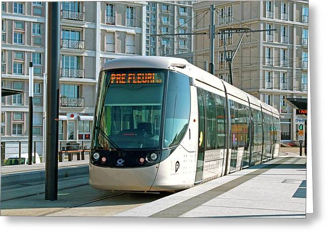 City Centre Tram Greeting Card