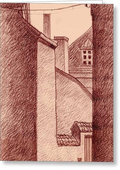 City Corridor B Greeting Card by Serge Yudin
