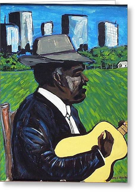 City Country Blues Greeting Card