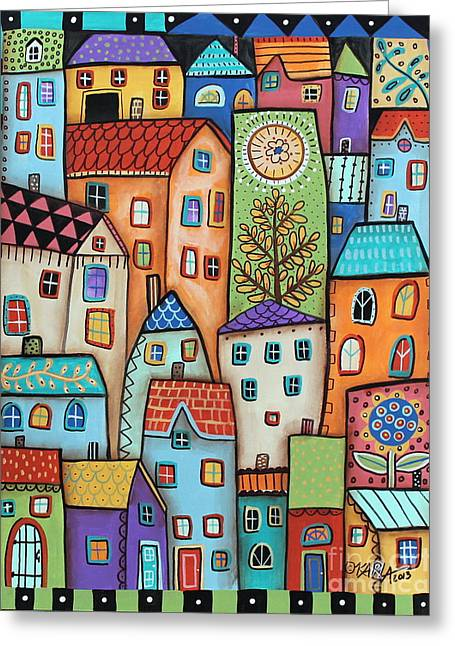 City Digs Greeting Card by Karla Gerard