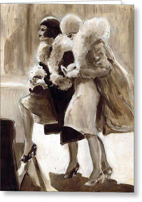 City Flappers Greeting Card by Mel Thompson
