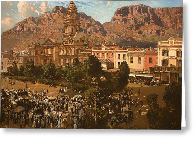 City Hall - Capetown 1917 Greeting Card by Mountain Dreams