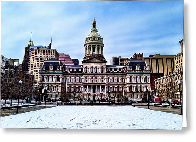 City Hall In Baltimore Greeting Card