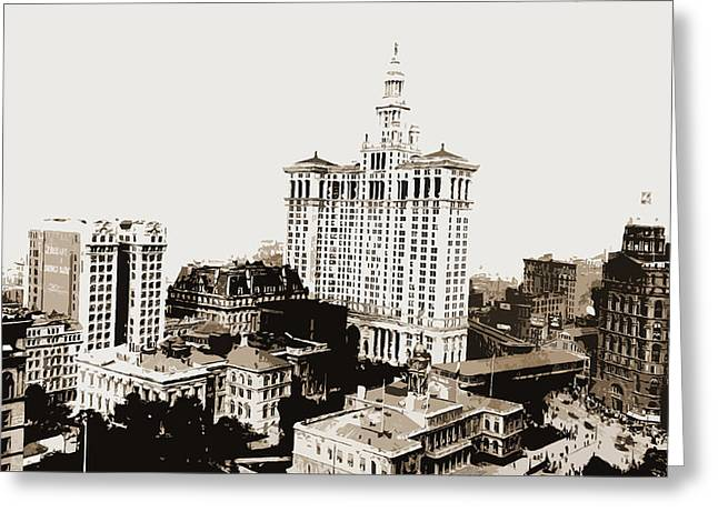City Hall Park, N Greeting Card by Litz Collection