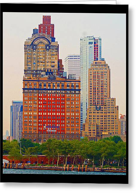 Greeting Card featuring the photograph City High by B Wayne Mullins
