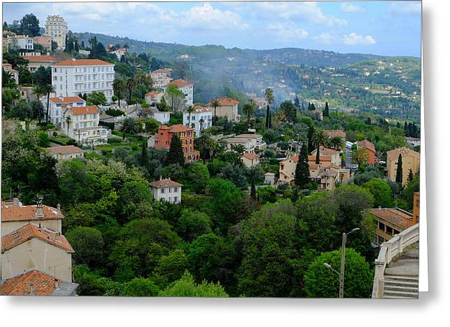 City Hills Of Grasse France Greeting Card