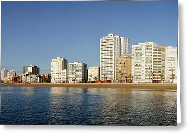 City In Waterfront, Vinaros, Province Greeting Card by Panoramic Images