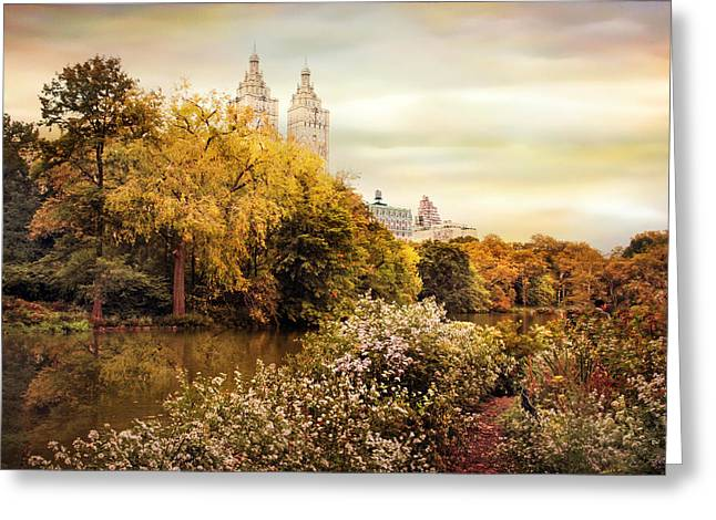 Autumn At San Remo Greeting Card by Jessica Jenney