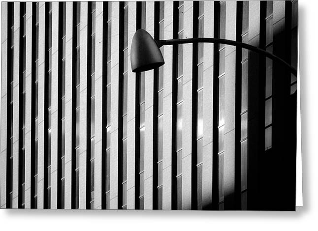 City Lamp Greeting Card by Dave Bowman