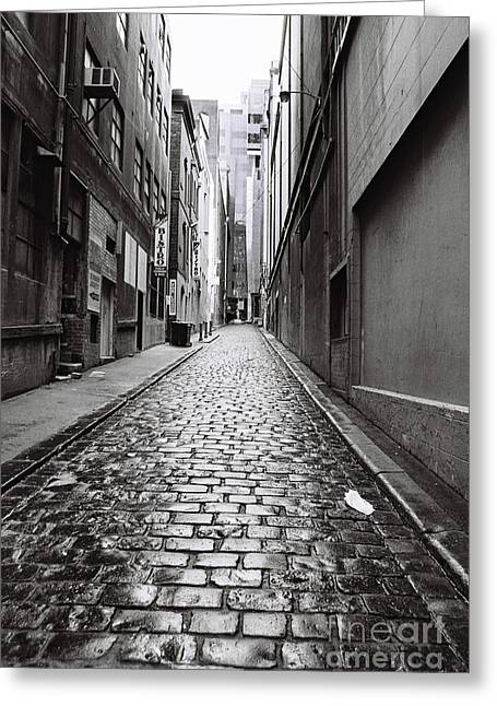 City Lane Melbourne Greeting Card