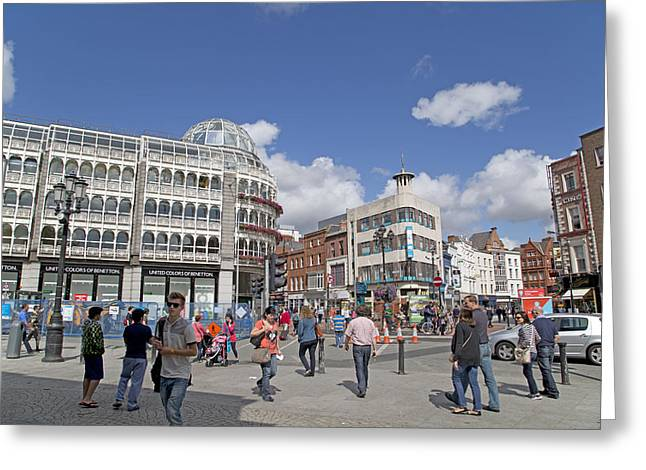 City Life -- Dublin Ireland Greeting Card by Betsy Knapp
