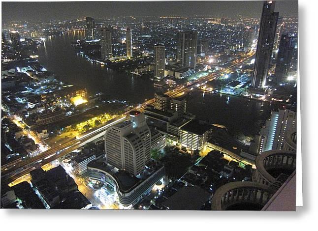 City Life - Bangkok Thailand - 01136 Greeting Card