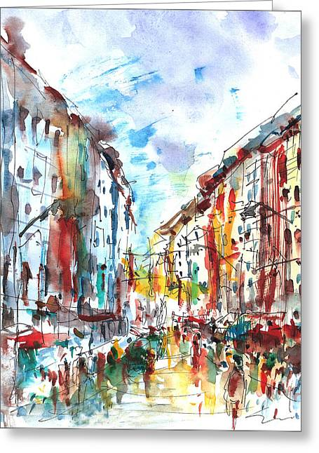 City Life... Greeting Card