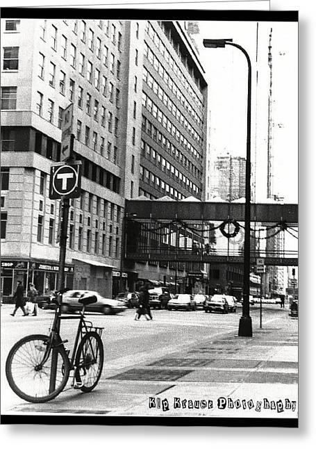 City Life Greeting Card by Kip Krause