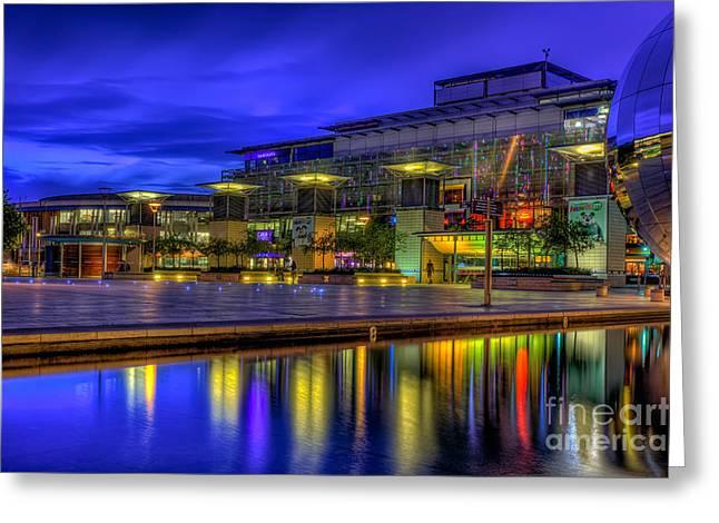 City Lights @bristol Greeting Card by Adrian Evans