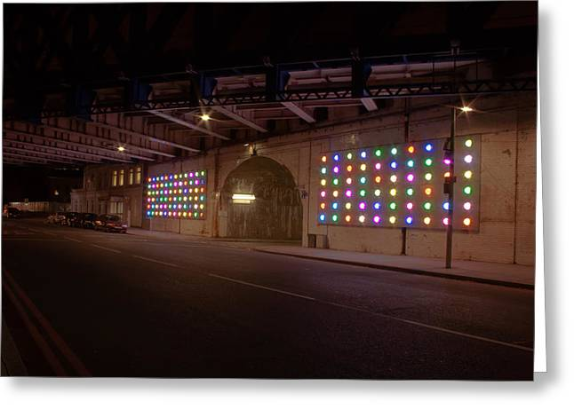 City Lights Greeting Card by Jacqui Collett