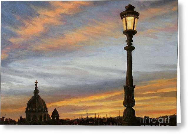 City Lights Greeting Card by Kiril Stanchev