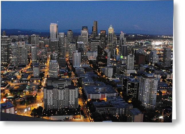 Greeting Card featuring the photograph City Lights by Natalie Ortiz