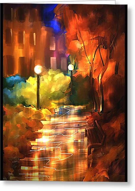 City Nights Greeting Card by Steven Lebron Langston