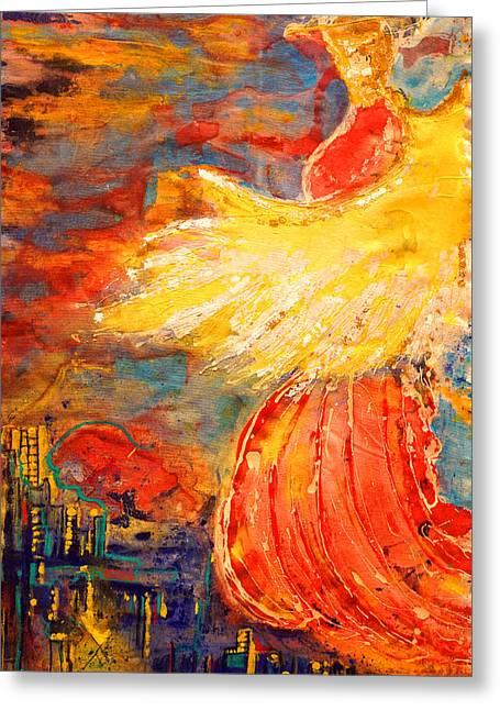 City Of An Angel Greeting Card