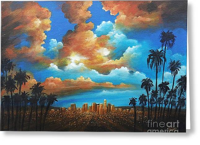 City Of Angels Greeting Card by S G