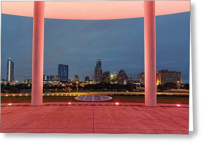 City Of Austin Framed Greeting Card