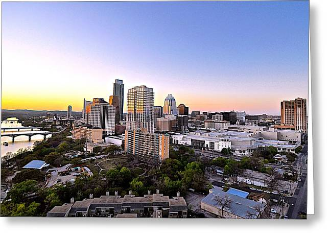 City Of Austin Texas Greeting Card by Kristina Deane