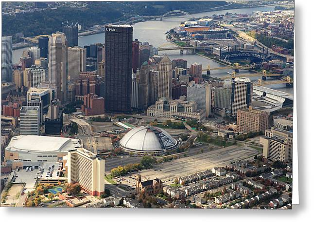 Monongahela River Greeting Cards - City of Champions in color Greeting Card by Emmanuel Panagiotakis