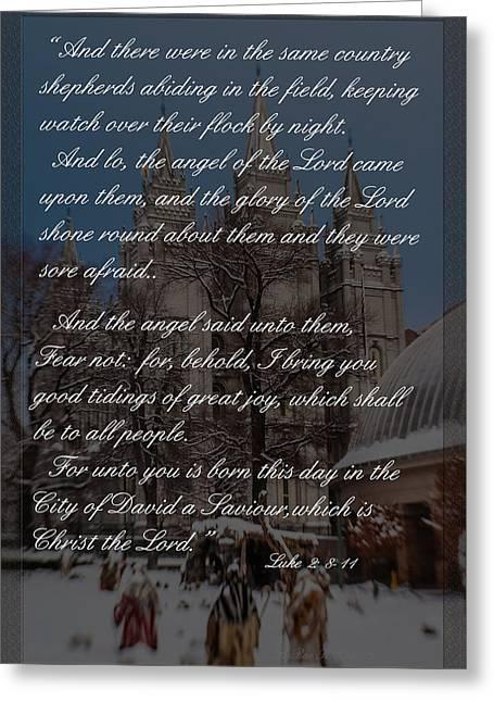 City Of David Slc Temple Greeting Card by La Rae  Roberts
