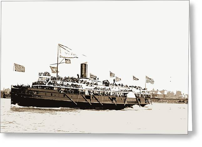 City Of Erie Steamer, City Of Erie Steamboat Greeting Card