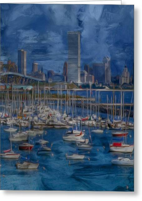 City Of Milwaukee Along Lake Michigan Greeting Card