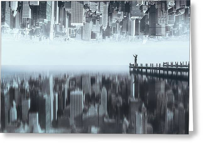 City Of Mirror Greeting Card