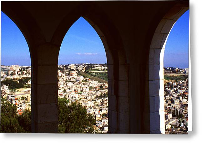 City Of Nazareth Greeting Card by Thomas R Fletcher