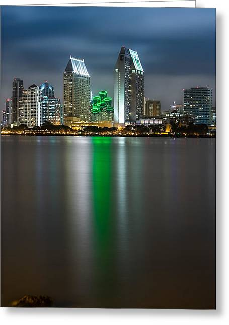 City Of San Diego Skyline 3 Greeting Card by Larry Marshall