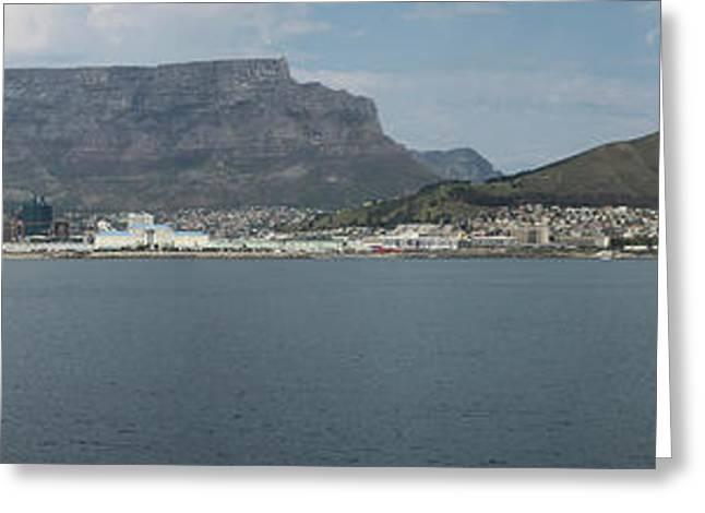 City On The Coast, Robben Island, Table Greeting Card