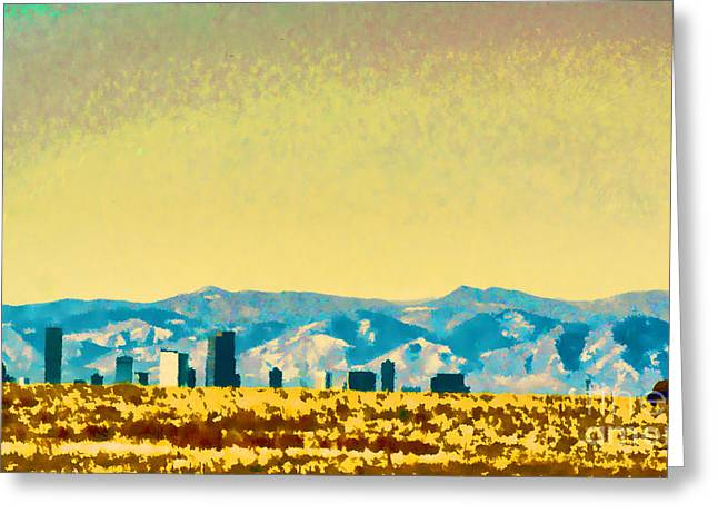 City On The Plains Greeting Card