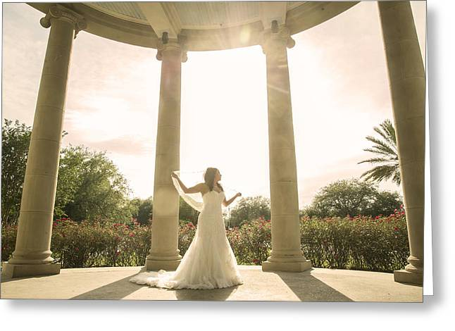 City-park Bridal  Greeting Card by Alicia Morales