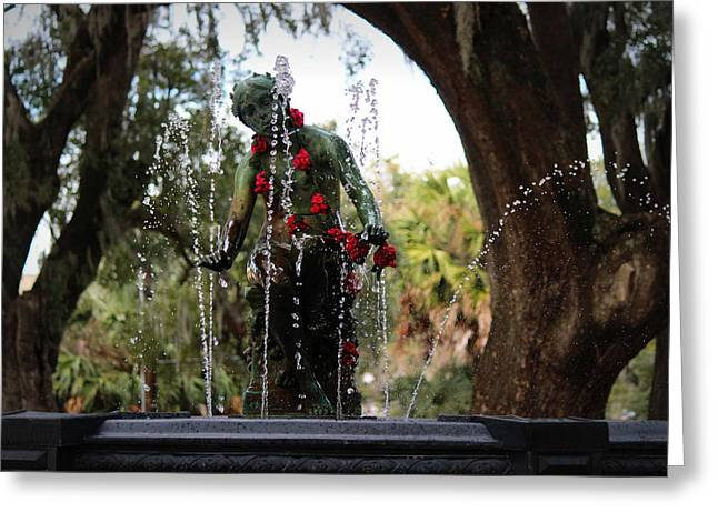 City Park Fountain Greeting Card