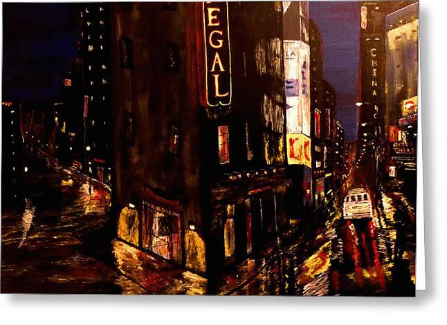 City Rain 2 Greeting Card by Mark Moore