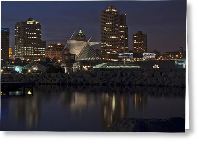 Greeting Card featuring the photograph City Reflection by Deborah Klubertanz